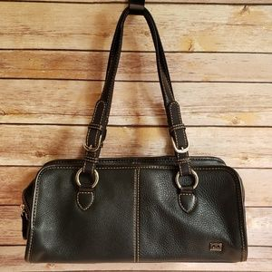 The Sak Black Leather Satchel Purse Like New GIFT